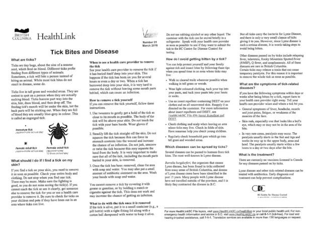 Information on tics