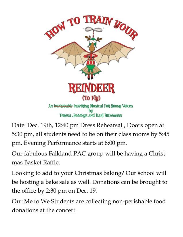 Christmas Concert info