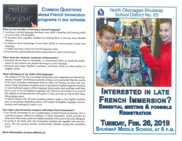 late french immersion flier