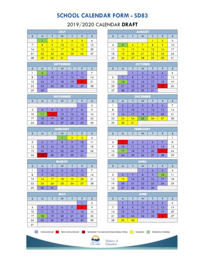 2019-2020 draft calendar
