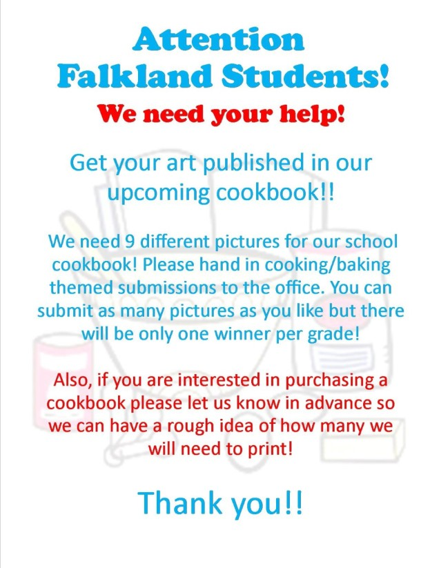 Cookbook art Flier